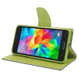 Diary PU kožené puzdro pre mobil Samsung Galaxy Grand Prime - tmavomodré - 4