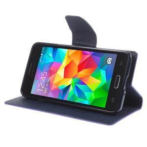 Diary PU kožené puzdro na mobil Samsung Galaxy Grand Prime - fialové - 4