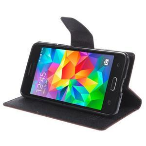 Diary PU kožené puzdro na mobil Samsung Galaxy Grand Prime - hnedé - 4