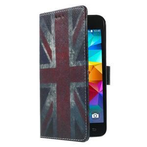 Wallet PU kožené puzdro pre mobil Samsung Galaxy Grand Prime - UK vlajka - 4