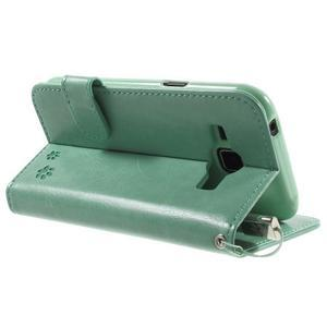 Koženkové puzdro s mačičkou Domi na Samsung Galaxy J1 - zelené - 4