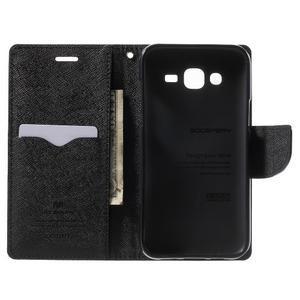 Diary štýlové peňaženkové puzdro pre Samsung Galaxy J5 - čierne - 4