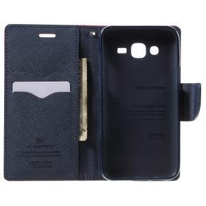 Diary štýlové peňaženkové puzdro na Samsung Galaxy J5 -  červené - 4