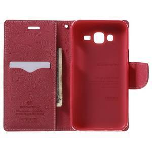 Diary štýlové peňaženkové puzdro pre Samsung Galaxy J5 -  ružové - 4