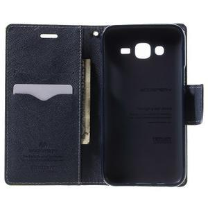 Diary štýlové peňaženkové puzdro na Samsung Galaxy J5 -  zelené - 4