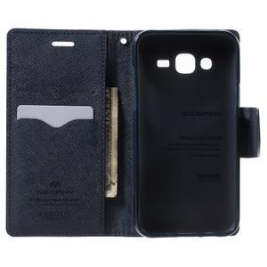 Diary štýlové peňaženkové puzdro pre Samsung Galaxy J5 -  fialové - 4