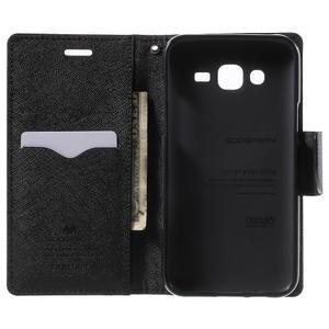 Diary štýlové peňaženkové puzdro na Samsung Galaxy J5 -  hnedé - 4