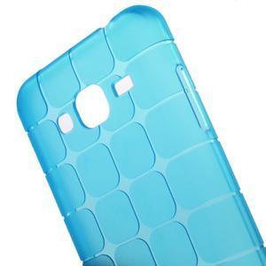 Square matný gélový obal na Samsung Galaxy J5 - modrý - 4
