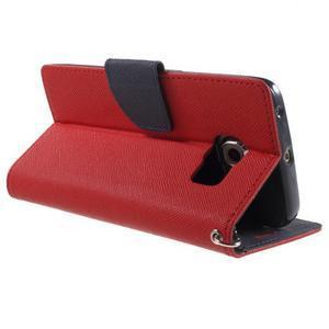 Diary PU kožené puzdro pre Samsung Galaxy S6 Edge - červené - 4