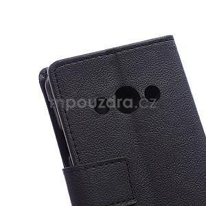 Peňaženkové pu kožené puzdro na Samsung Galaxy Xcover 3 - čierne - 4
