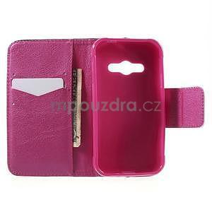 Vzorové peňaženkové puzdro na Samsung Galaxy Xcover 3 - srdce - 4