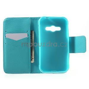 Vzorové peňaženkové puzdro na Samsung Galaxy Xcover 3 - vodný kvet - 4