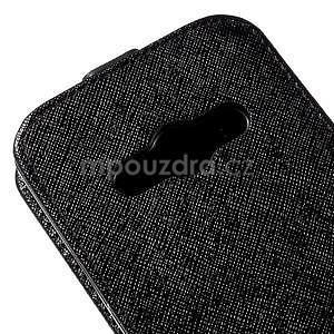 Flipové koženkové puzdro na Samsung Galaxy Xcover 3 - čierne - 4