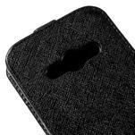 Flipové koženkové puzdro na Samsung Galaxy Xcover 3 - čierne - 4/5