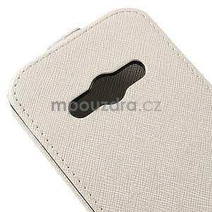 Flipové koženkové puzdro pre Samsung Galaxy Xcover 3 - biele - 4