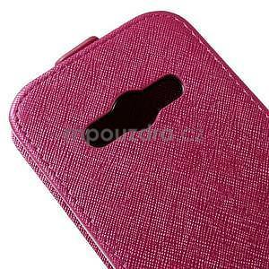 Flipové koženkové puzdro pre Samsung Galaxy Xcover 3 - ružové - 4