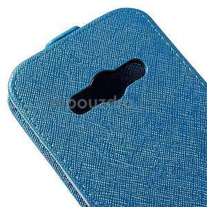 Flipové koženkové puzdro na Samsung Galaxy Xcover 3 - modré - 4