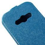 Flipové koženkové puzdro na Samsung Galaxy Xcover 3 - modré - 4/5