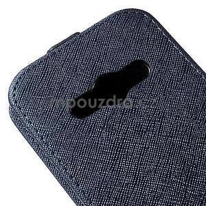 Flipové koženkové puzdro pre Samsung Galaxy Xcover 3 - tmavomodré - 4