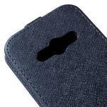 Flipové koženkové puzdro pre Samsung Galaxy Xcover 3 - tmavomodré - 4/5