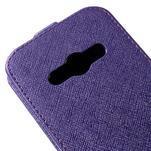 Flipové koženkové puzdro pre Samsung Galaxy Xcover 3 - fialové - 4/5
