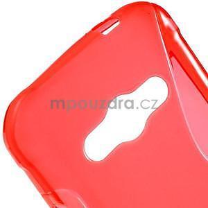 S-line gélový obal na Samsung Galaxy Xcover 3 - červený - 4