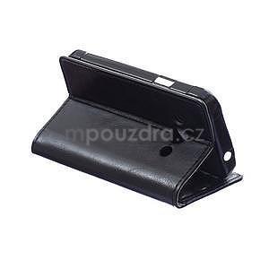Čierne koženkové puzdro Samsung Galaxy Xcover 3 - 4