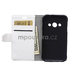 Biele koženkové puzdro Samsung Galaxy Xcover 3 - 4