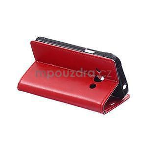 Červené koženkové puzdro Samsung Galaxy Xcover 3 - 4