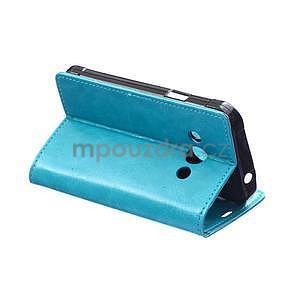Modré koženkové puzdro Samsung Galaxy Xcover 3 - 4