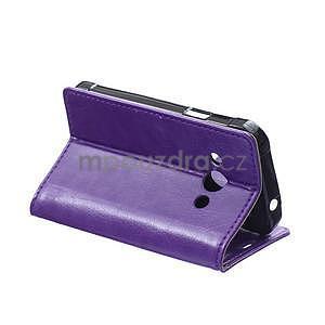 Fialové koženkové puzdro Samsung Galaxy Xcover 3 - 4
