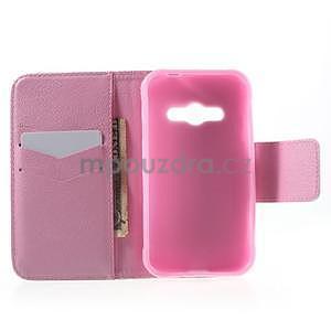 Vzorové peňaženkové puzdro na Samsung Galaxy Xcover 3 - červené kvety - 4