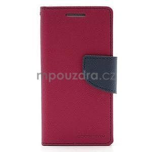 PU kožené peněženkové pouzdro na Samsung Galaxy S4 mini - rose - 4