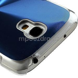 Metalický obal na Samsung Galaxy S4 mini - modrý - 4