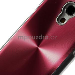 Metalický obal pre Samsung Galaxy S4 mini - červený - 4