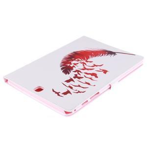 Emotive puzdro pre tablet Samsung Galaxy Tab A 9.7 - vtáčie pierko - 4