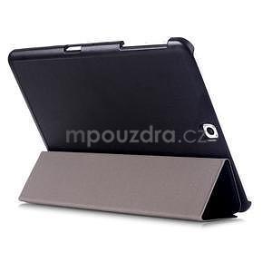 Trifold polohovateľné púzdro pre Samsung Galaxy Tab S2 9.7 - čierne - 4