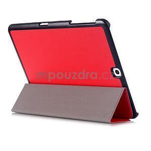 Trifold polohovateľné púzdro pre Samsung Galaxy Tab S2 9.7 -  červené - 4