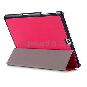 Trifold polohovateľné púzdro pre Samsung Galaxy Tab S2 9.7 - rose - 4