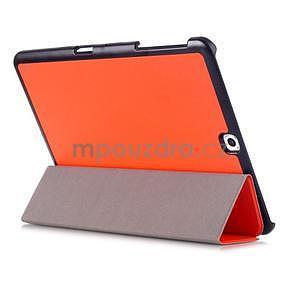 Trifold polohovateľné púzdro pre Samsung Galaxy Tab S2 9.7 -  oranžové - 4