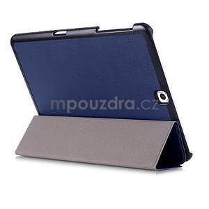Trifold polohovateľné púzdro na Samsung Galaxy Tab S2 9.7 - tmavomodré - 4