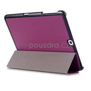 Trifold polohovateľné púzdro pre Samsung Galaxy Tab S2 9.7 -  fialové - 4