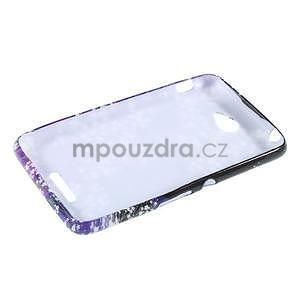 Gelový obal na Sony Xperia E4 - fialové květy - 4