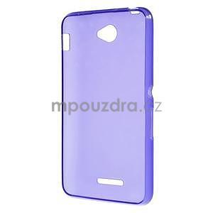 Gélový jednofarebný obal pre Sony Xperia E4 - fialový - 4