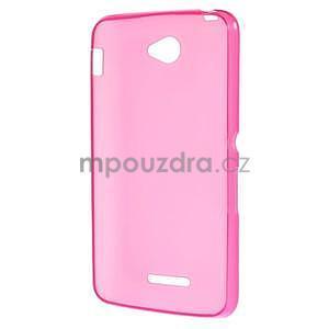 Gelový jednobarevný obal pro Sony Xperia E4 - růžový - 4