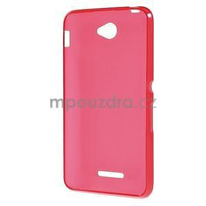 Gélový jednofarebný obal pre Sony Xperia E4 - červený - 4