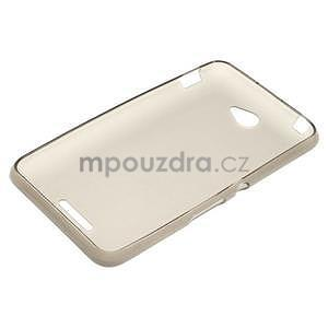 Gélový jednofarebný obal pre Sony Xperia E4 - sivý - 4
