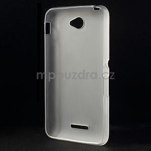 Gélový jednofarebný obal pre Sony Xperia E4 - transparentné - 4