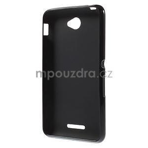 Gélový jednofarebný obal pre Sony Xperia E4 - čierny - 4