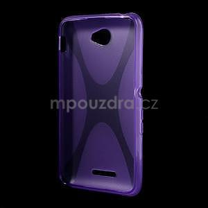 Gelový x-line obal na Sony Xperia E4 - fialový - 4